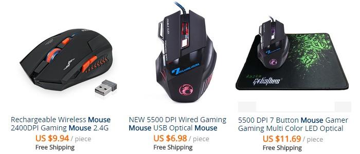 Beli tetikus gaming yang murah, cantik dan unik di website eCommerce Aliexpress
