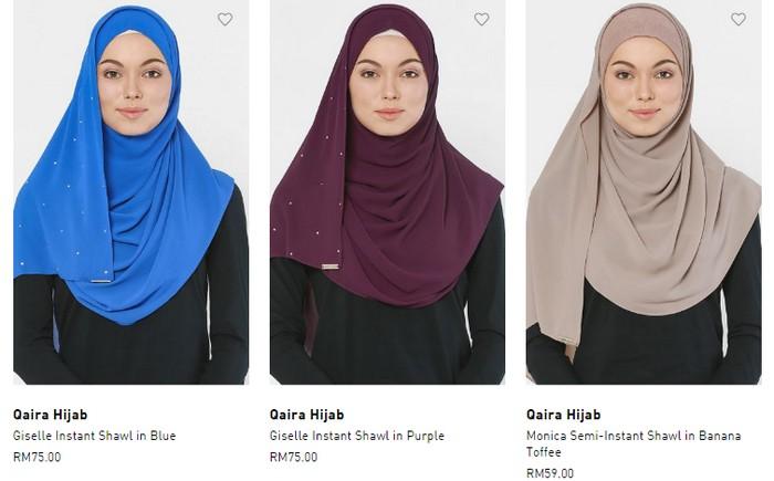 Beli tudung labuh muslimah ringkas dan murah di internet