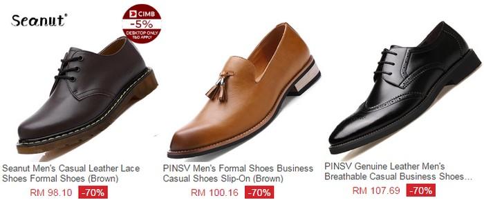Dapatkan kasut raya lelaki jenis kulit di eCommerce Lazada Malaysia