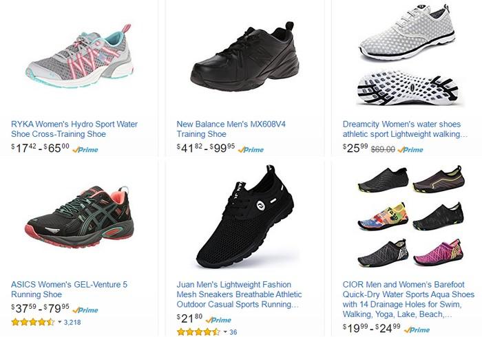 Dapatkan kasut sukan murah dan berkualiti di internet melalui website eCommerce Amazon