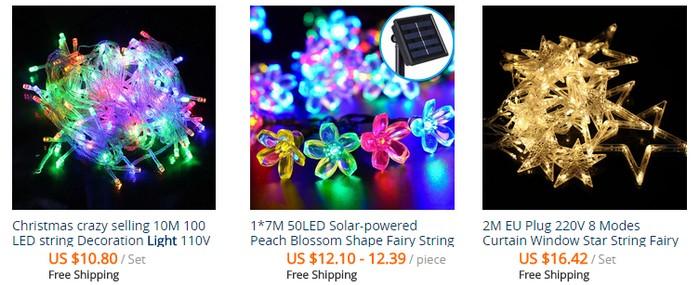 Dapatkan lampu kelip kelip yang cantik melalui website eCommerce Aliexpress