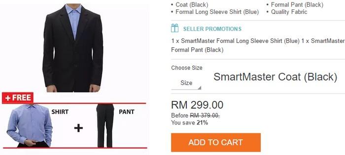 Dapatkan set lengkap baju kot blazer lelaki di eCommerce SmartMaster