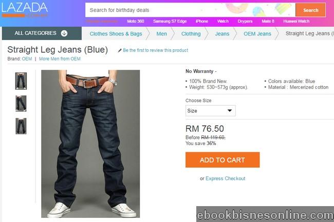 Harga seluar jeans di Lazada Malaysia