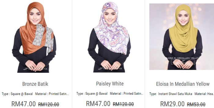 Jenama tudung murah online yang memang cantik dan selesa di pakai