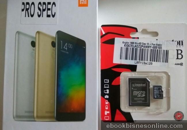 Kotak Xiaomi Redmi Note 3 Pro Dan Micro SD