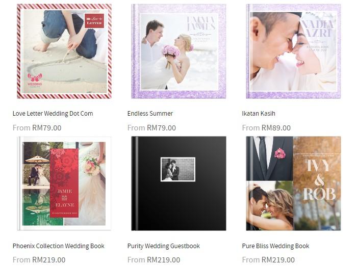 Pakej bina dan buat album gambar sendiri murah di website eCommerce Photobook Malaysia
