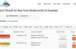 Pergi melancong naik bas dari Penang ke Kuantan dengan beli tiket bas online