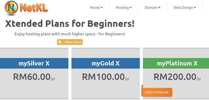 Tawaran pakej harga web hosting murah dari NetKL Malaysia