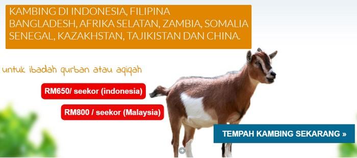 Tempah daging kambing di internet untuk ibadah qurban dan aqiqah