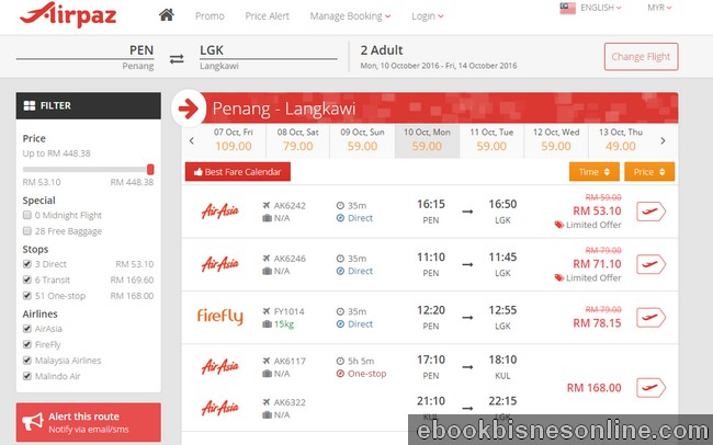Cara mencari tiket penerbangan yang murah dengan website eCommerce perbandingan Airpaz