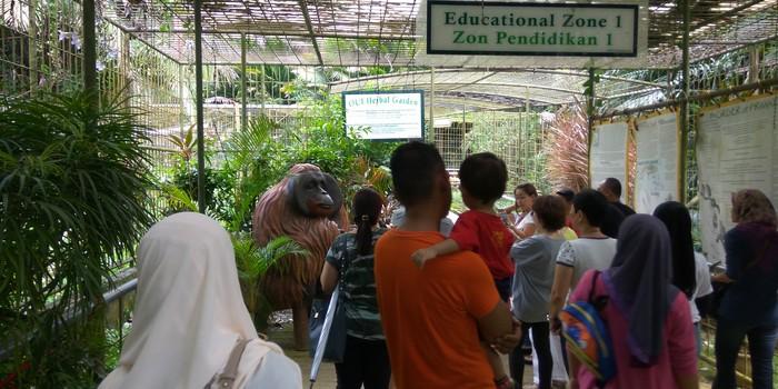 Zon pendidikan orang utan Malaysia