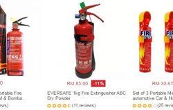 Dapatkan alat pemadam api kebakaran jenis mini kecil untuk kegunaan di rumah dan juga kenderaan