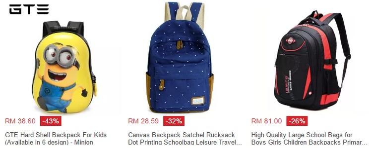 Dapatkan beg sekolah yang berharga murah dan cantik di website eCommerce Lazada Malaysia
