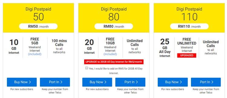 Pakej digi postpaid plan terkini dari pelan BEST Value Plan