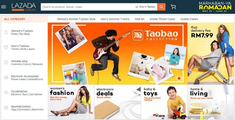 Anda kini boleh beli barang Taobao online di website eCommerce Lazada Malaysia