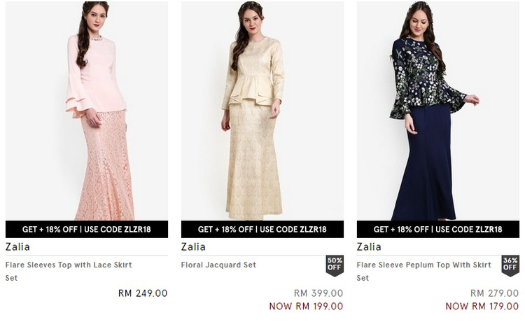 Dapatkan baju raya wanita yang moden eksklusif di Zalora Malaysia