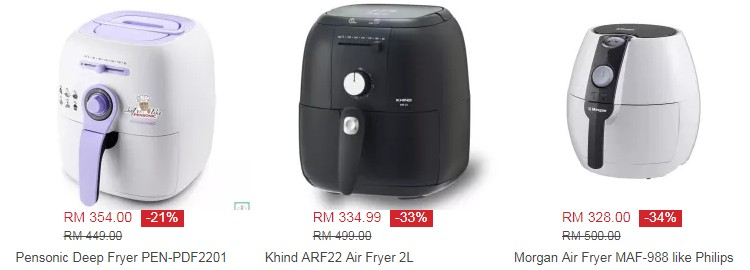 Beli air fryers yang murah tetapi berkualiti di website Lazada Malaysia