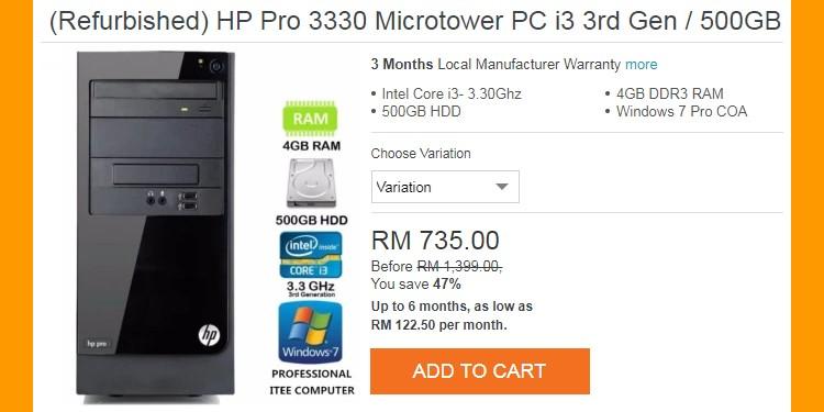Spesifikasi desktop asas untuk bina gaming pc dengan kos rendah