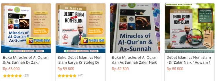 Beli buku perbandingan agama dari Zakir Naik