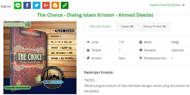 Dapatkan buku perbandingan agama Islam terbaik dari Ahmed Deedat
