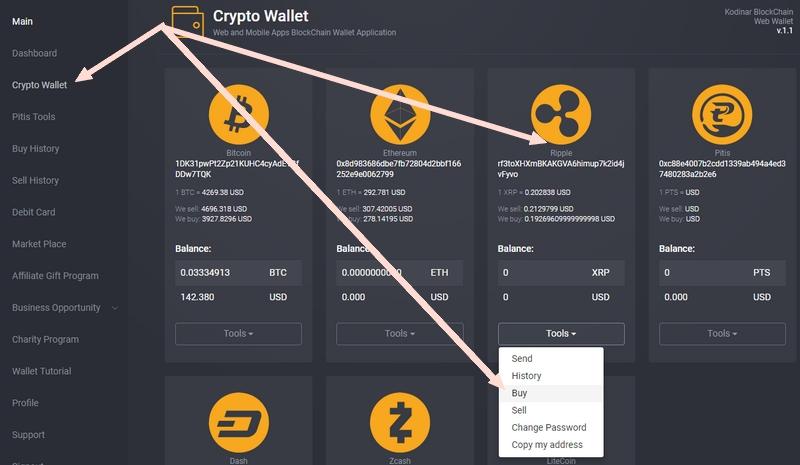 Langkah untuk beli Ripple mudah di Kodinar Blockchain