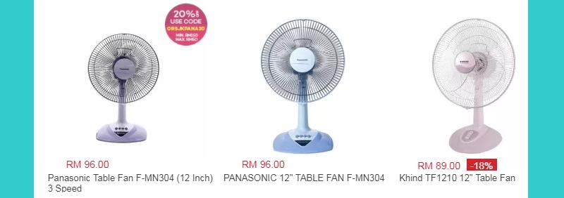 Jenama kipas angin table fan dari Panasonic yang saya pernah beli