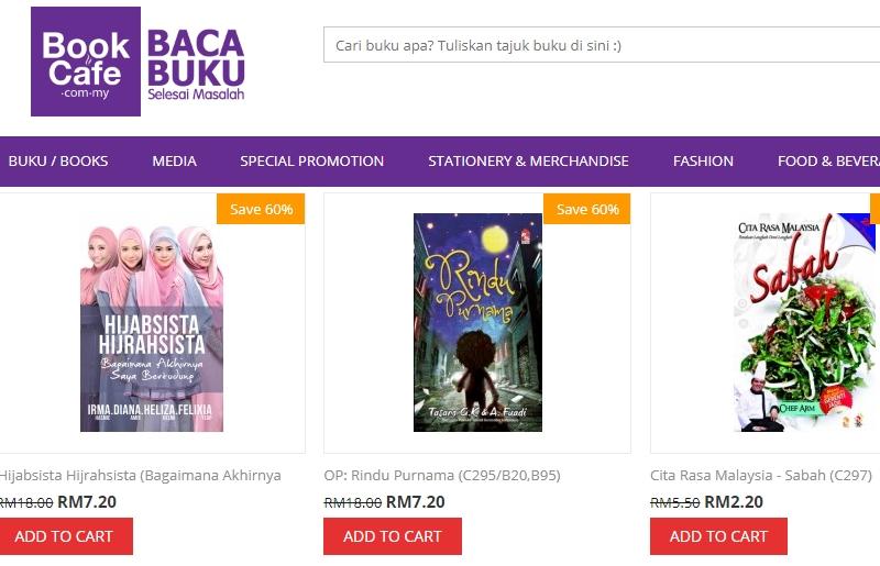 Stok buku melayu untuk promosi jualan buku akhir tahun