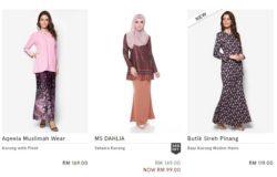 Beli baju kurung moden di website Zalora