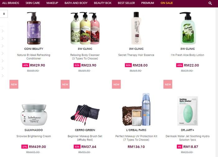 Website Menjual Produk Kecantikan Wanita Korea Japan Taiwan