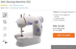 Dapatkan mesin jahit mudah alih yang murah secara online