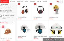 Beli safety gear peralatan keselamatan kerja di internet