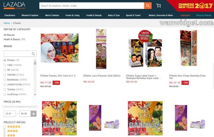Beli Produk D'Herbs Terlajak Laris Aliff Syukri Online