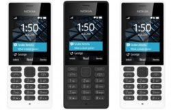 Nokia 150 dijual dalam warna hitam dan juga putih
