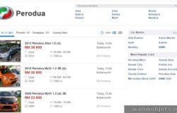 Website untuk membeli kereta terpakai Malaysia