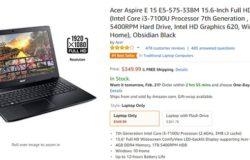 Beli laptop jenama Acer di Amazon
