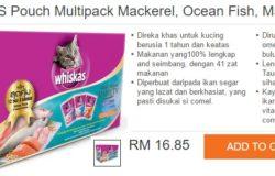 Beli makanan kucing jenama Whiskas online di Lazada Malaysia
