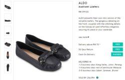Contoh kasut kerja wanita kulit warna hitam yang berkualiti