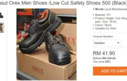 Dapatkan kasut keselamatan safety shoes di Lazada Malaysia