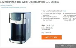 Produk water dispenser Malaysia hot & cold jenama Khind
