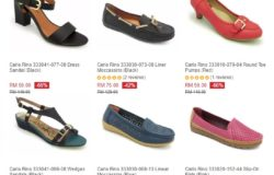 Tawaran promosi beli kasut perempuan trend terkini online dari jenama Carlo Rino