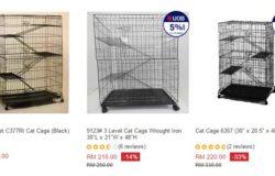 sangkar rumah kucing (cat cage) yang bagus berkualiti