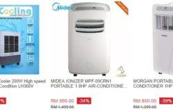 Banyak aircond mudah alih murah berkualiti dijual di Lazada Malaysia