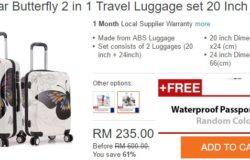 Beli 2 beg travel sekaligus dengan harga murah di Lazada Malaysia