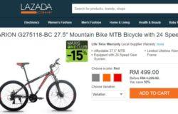 Beli basikal murah bawah RM500 di Lazada Malaysia