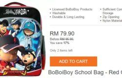 Beli beg sekolah boboiboy untuk anak anda di Lazada Malaysia