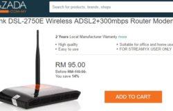 Beli modem internet yang sesuai untuk pengguna streamyx di Lazada Malaysia