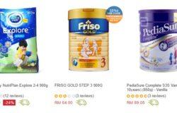 Beli susu tepung untuk kanak kanak yang murah secara online