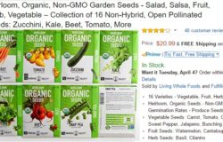 Beli biji benih luar negara tumbuhan jenis organik yang berkualiti di website Amazon