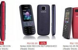 Beli handphone Nokia lama berharga murah yang masih baru di website eCommerce Lazada Malaysia