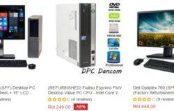 Beli komputer terpakai berjenama di bawah harga RM500 di website eCommerce Lazada Malaysia